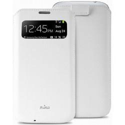 Pouzdro Puro VIEW Slim Essential Samsung Galaxy S4 / bílé PCSLIMS4VIEWWHI
