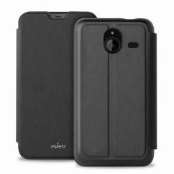 Pouzdro Puro flipové s přihrádkou na kartu Microsoft Lumia 640 XL černé