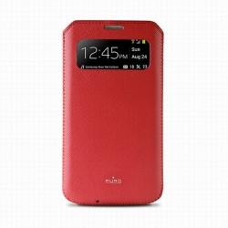 Puro pouzdro VIEW Slim Essential pro Samsung Galaxy S4, červená