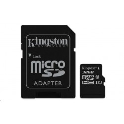 Kingston microSDHC 32GB UHS-I U1 + adaptér SDC10G2/32GB