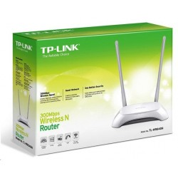 TP-Link TL-WR840N 300Mbps Wireless N Router, 2x fixní anténa, Qualcomm