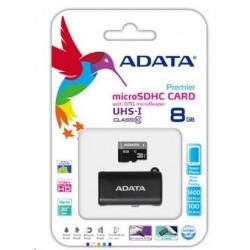 ADATA microSDHC 8GB UHS-I OTG + USB čtečka AUSDH8GUICL10-ROTGMBK