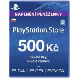 Sony PlayStation Store předplacená karta 500 CZK