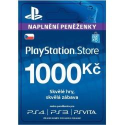 Sony PlayStation Store předplacená karta 1000 CZK