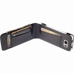 Krusell kožené pouzdro KALMAR WALLETCASE pro Samsung Galaxy S6/S6 edge, černá