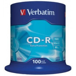 Verbatim CD-R 700MB 52x, 100ks (43411)