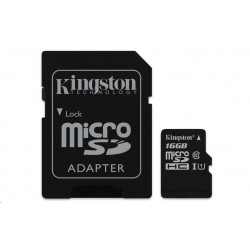 Kingston microSDHC 16GB UHS-I + adaptér SDCA10/16GB