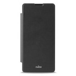 Puro flipové pouzdro pro Sony Xperia XA s přihrádkou na kartu, černá