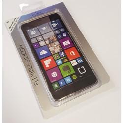 Pouzdro Puro silikonové Microsoft Lumia 640 XL čiré