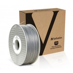 VERBATIM 3D Printer Filament PLA 1,75mm 1kg silver/metal grey