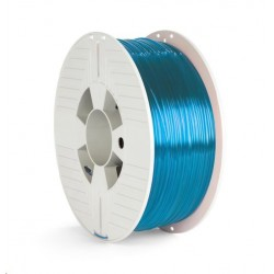 VERBATIM 3D Printer Filament PET-G 1.75mm 1000g blue transparent