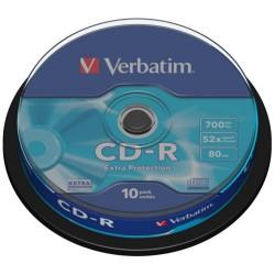 Verbatim CD-R 700MB 52x, spindle, 10ks (43437)