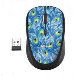 TRUST Myš Yvi Wireless Mouse - peacock