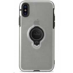 Puro ochranný obal pro Apple iPhone X s magnetickým kroužkem, transparentní