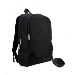 """ACER NTB STARTER KIT 15.6"""" ABG950 BACKPACK BLACK AND WIRELESS MOUSE BLACK"""