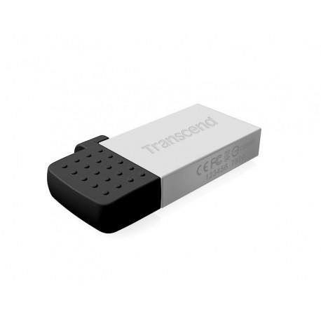 TRANSCEND USB Flash Disk JetFlash®380S, 64GB, USB 2.0/micro USB, Silver (R/W 20/10 MB/s)