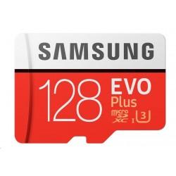 Samsung Micro SDXC karta 128GB EVO Plus (Class 10 UHS-I) + SD adaptér