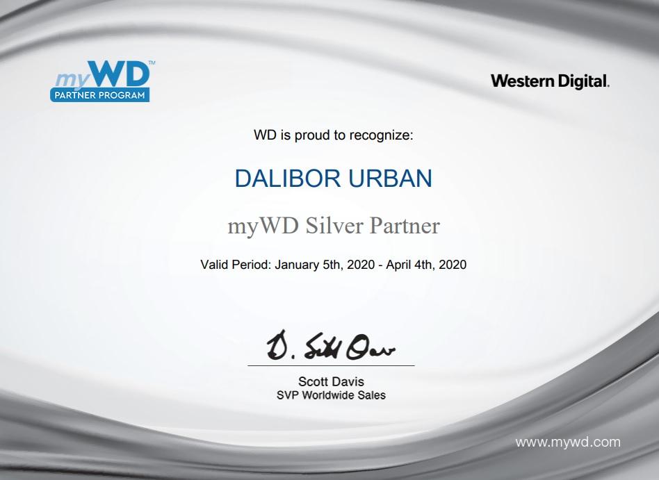 WD certificate 2020